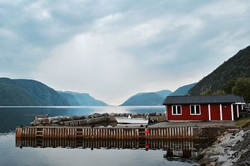 Kleiner Norwegischer Hafen von Mike Landman