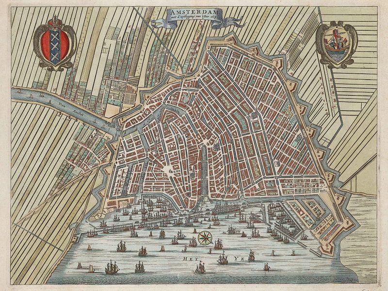 Amsterdam met d'uytlegging van 't jaer 1613 van Rebel Ontwerp