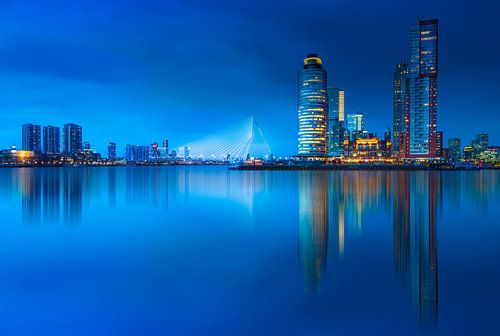 Rotterdam skyline at blue hour ... van