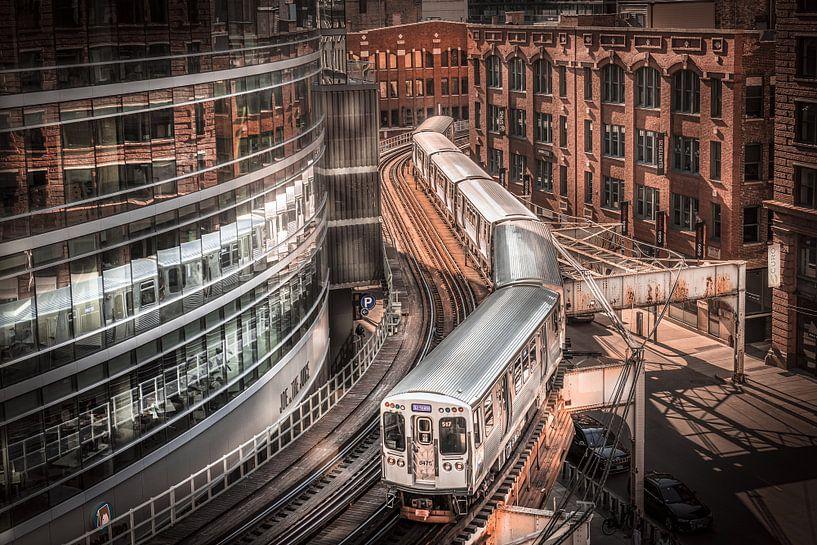 Train de Chicago sur Jan van Dasler
