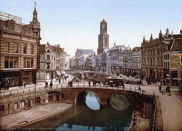 Oude Gracht en Bakkerbrug, Utrecht van Vintage Afbeeldingen