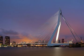 Erasmusbrug Rotterdam van W J Kok