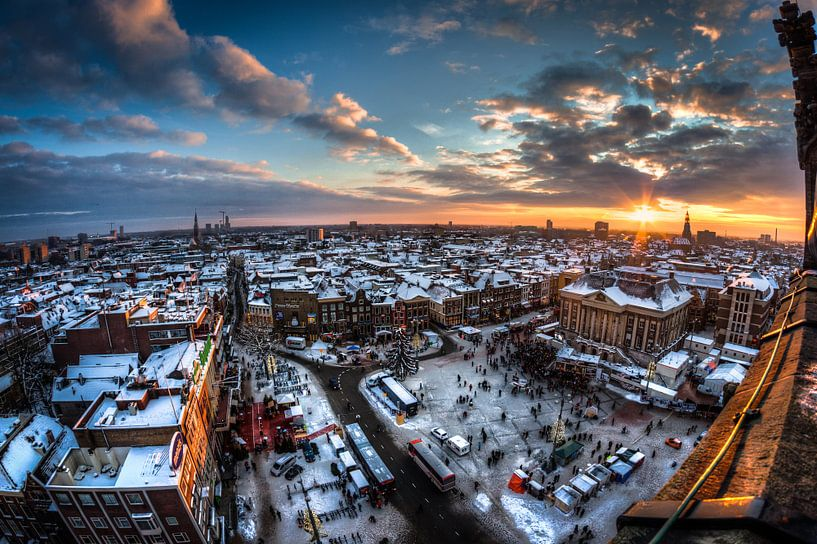 Groningen Winter City van Frenk Volt