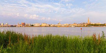 Skyline van Antwerpen in België van Werner Dieterich