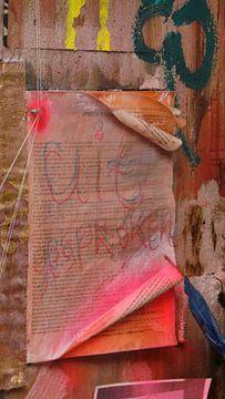 """Fragment der Malerei; """"Grundmenschenrechte """" von Willie Wete"""