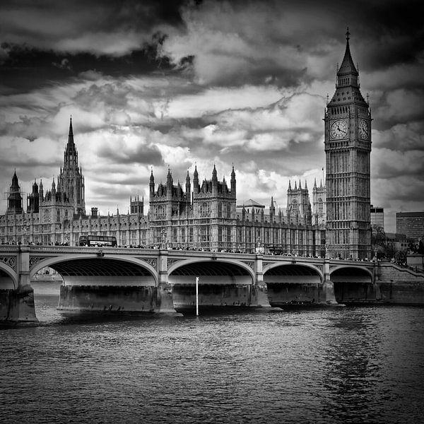 LONDEN Houses of Parliament en Westminster Bridge van Melanie Viola
