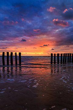 Cadzand Sunset 4 von Joram Janssen