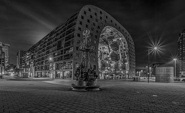 Le monument Ode à Marten Toonder et au Markthal Rotterdam sur