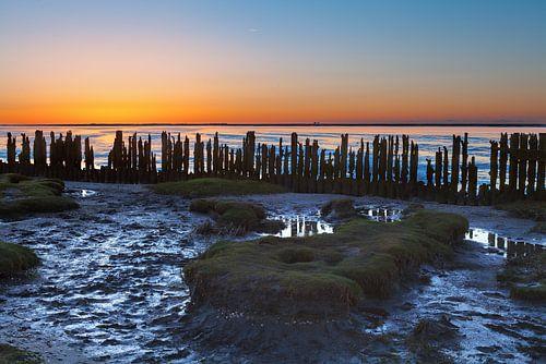 Laag water - Laag tij Paesens Moddergat Kust Friesland