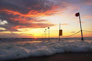 Spectaculaire zonsondergang in Katwijk