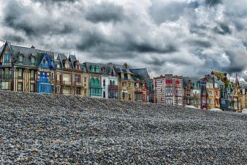 Plage de Mers-les-Bains - de boulevard du Général Leclerc  van Jan Sportel Photography