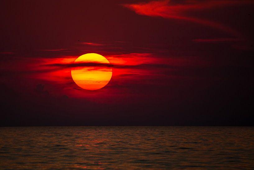 Sonnenuntergang am Meer van Manfred Schmierl