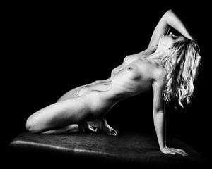 Nackte Frau mit wunderschönem Körper, fotografiert in Schwarz-Weiß #P1236