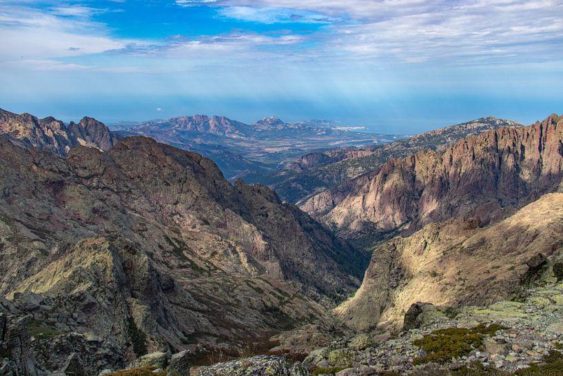 Uitzicht op Calvi op Corsica van Martijn Joosse