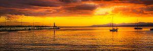 Arrecife zonsondergang