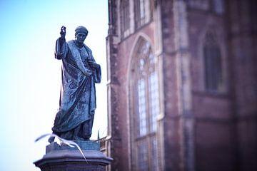 Standbeeld Grote markt Haarlem van