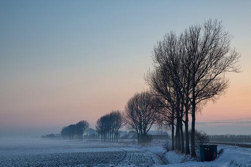 IJs koude winter ochtend van