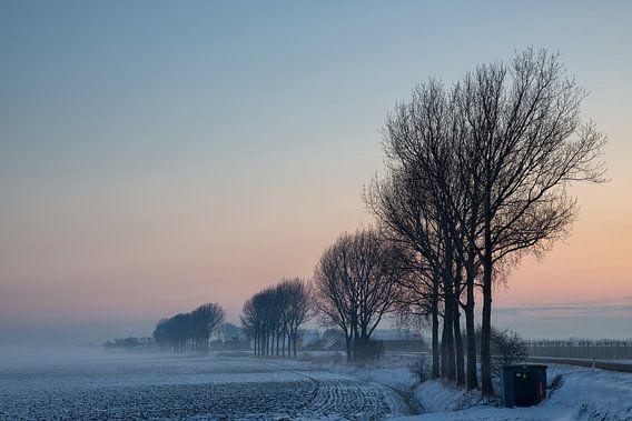 IJs koude winter ochtend van Bram van Broekhoven