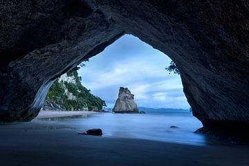 Cathedral Cove in Nieuw Zeeland van Michael Bollen