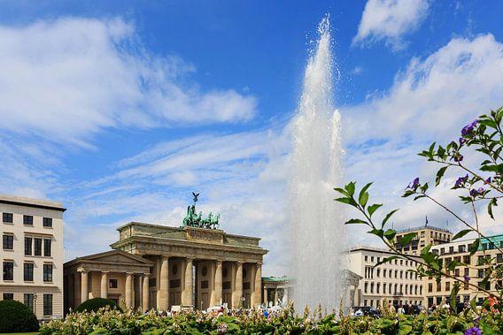 Brandenburger Tor Berlin met fontein