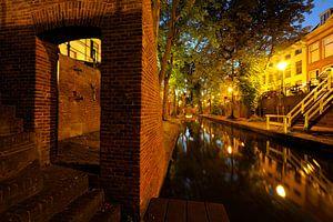 Nieuwegracht tussen Quintijnsbrug en Brigittenbrug in Utrecht
