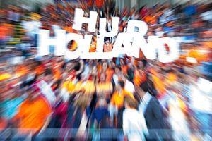 Supporters van Oranje tijdens WK-Hockey 2014 van
