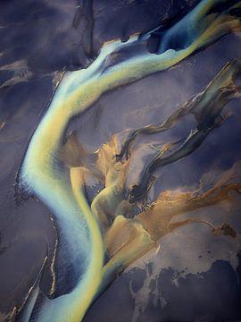 Rivierdelta Texturen van IJsland #6 van Keith Wilson Photography