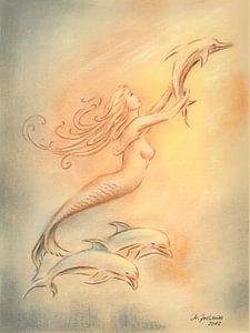 Delphine Engel und Heiler der Meere
