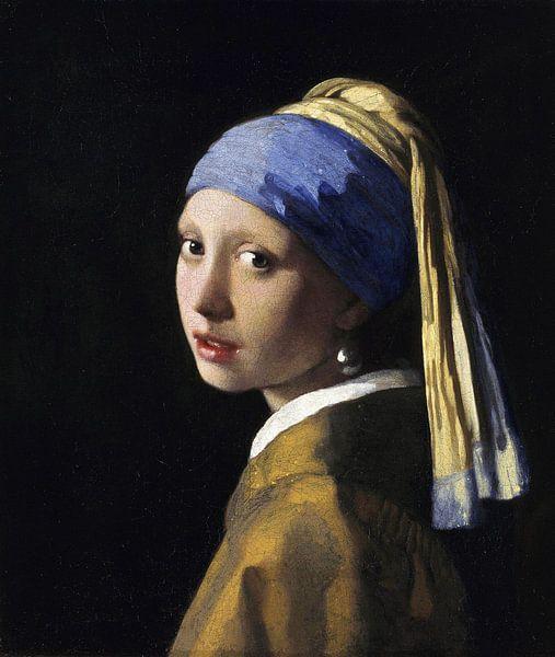 Meisje met parel - Meisje van Vermeer - Schilderij (HQ)