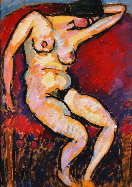 Alexej von Jawlensky-Schlafende (Schlafende Frau) von finemasterpiece