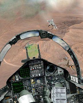 F-15C Eagle dogfight in Desert Storm van Cornelisz van de Beste