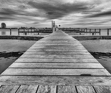 Leerer Hafen Grou. (Friesland) von Jakob Huizen van