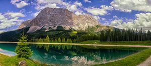 Het meer bij de Zugspitze