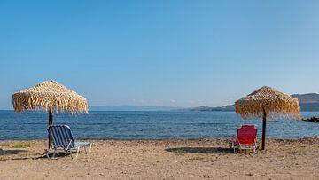 Strand op Lesbos van Rinus Lasschuyt Fotografie