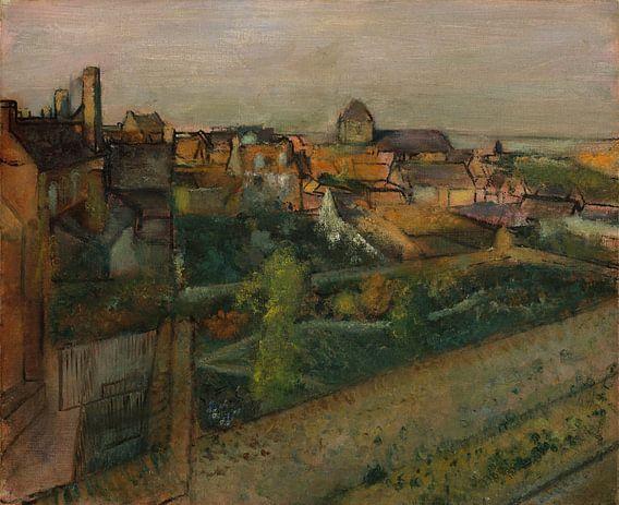 Weergave van Saint-Valéry-sur-Somme, Edgar Degas van Meesterlijcke Meesters