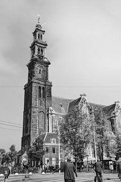 Westerkerk Prinsengracht Amsterdam Zwart-Wit van Hendrik-Jan Kornelis