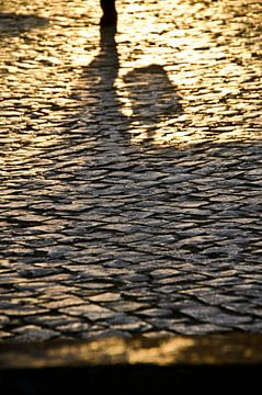 Schaduw op straat van Marieke van der Hoek-Vijfvinkel