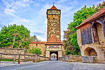 Mittelalterlicher Turm Rothenburg ob der Tauber von Roith Fotografie