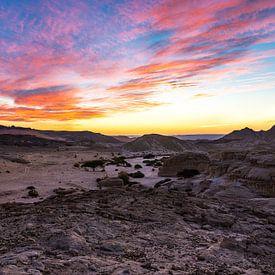 Wadi Araba Sunset van Sake van Pelt
