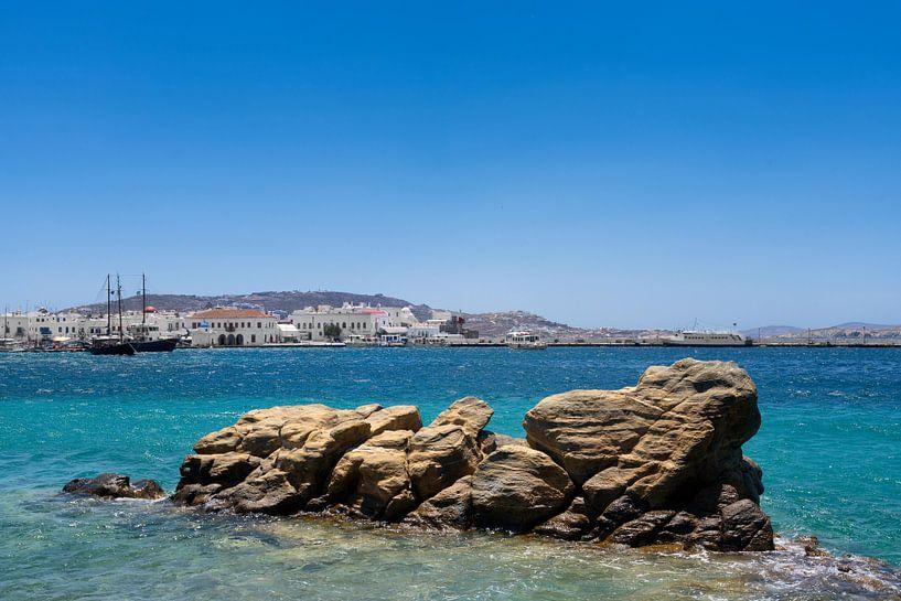 Mykonos haven in Griekenland van Natasja Tollenaar