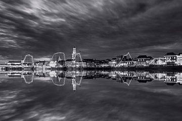 Stadtansicht Kampen in schwarz-weiß von Fotografie Ronald