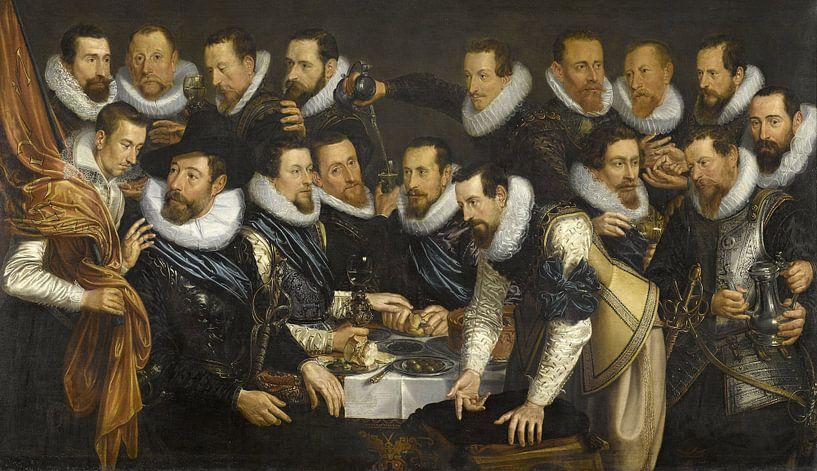 Offiziere und andere Schützen aus dem 10. Bezirk in Amsterdam, Jan Tengnagel von Meesterlijcke Meesters