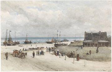 Der Strand von Scheveningen, Johannes Bosboom, 1873