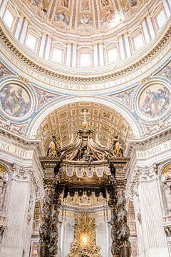 Sint-Pietersbasiliek, Vaticaanstad, Italië van Laura de Roeck