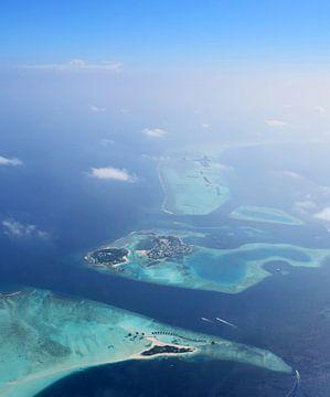 Malediven Luftaufnahme von Jacky Gerritsen