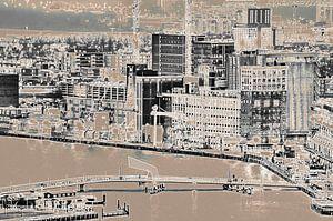 Blokliner Rotterdam - Rijnhaven en Katendrecht van Frans Blok