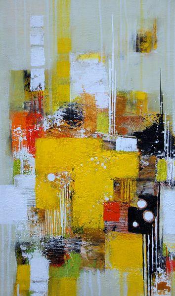 Abstrakt in Gelb Nr.3 von Claudia Neubauer