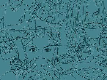 Les buveurs de café sur Natalie Bruns