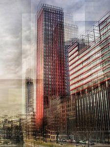 Modern Rotterdam in verticaal beweging