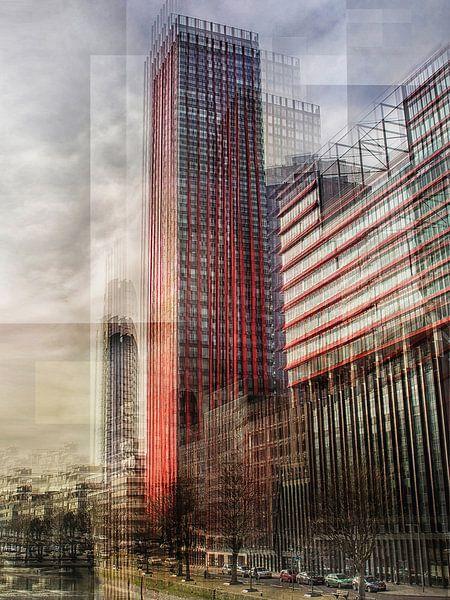 Modern Rotterdam in verticaal beweging van Jerome Coppo